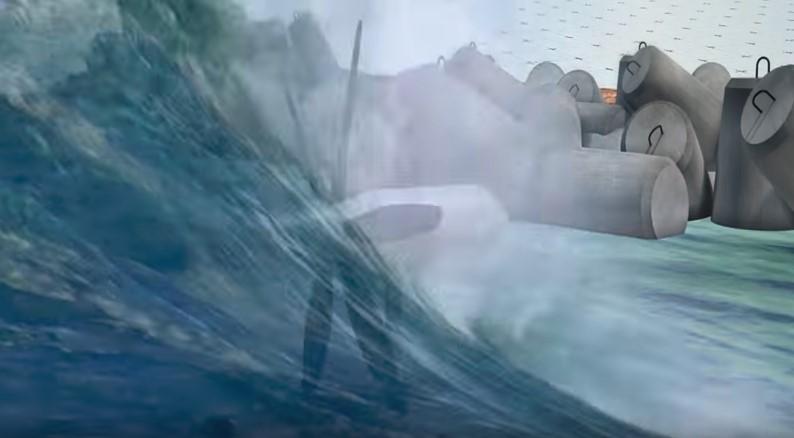 Japanese Tetrapods Harvest Wave Energy